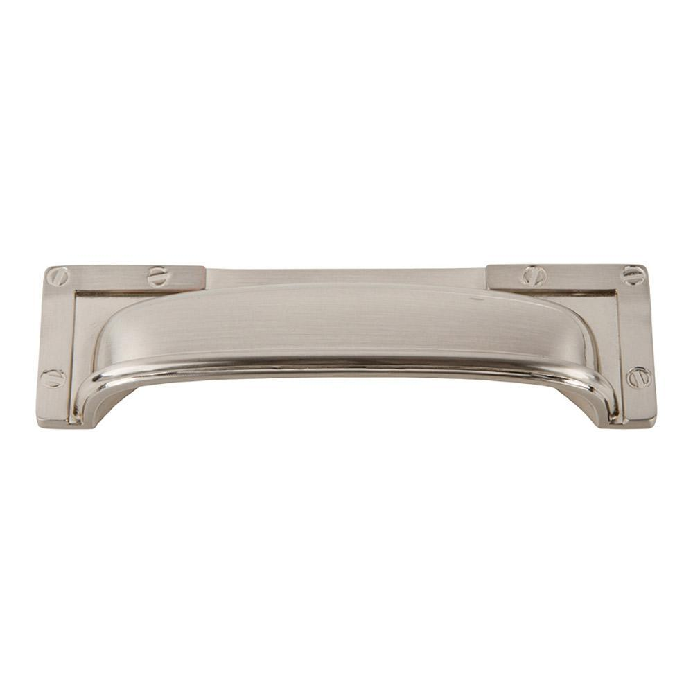 Atlas Homewares Campaign L-Bracket Cup Cabinet Pull Brushed Nickel, 5 in