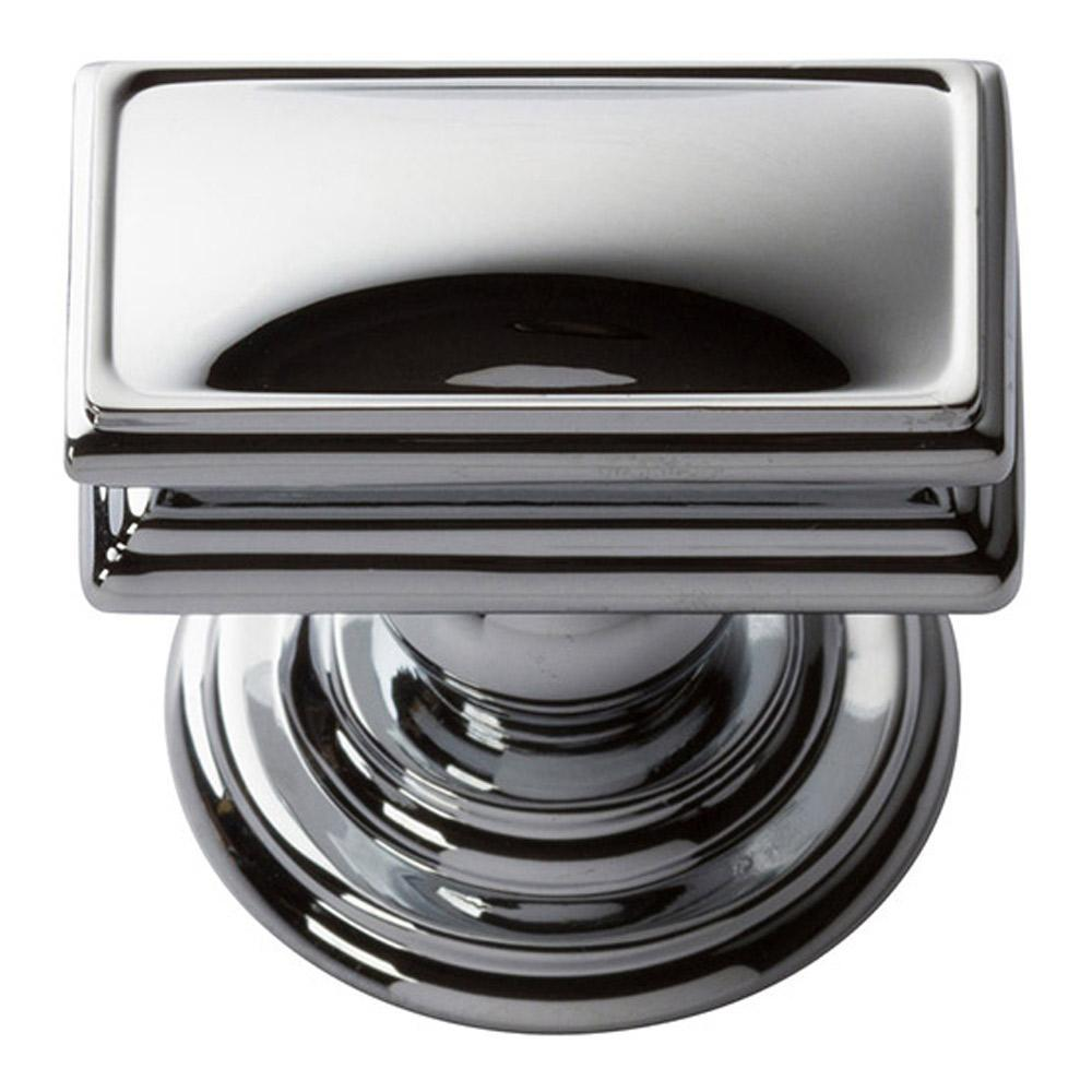 Atlas Homewares Campaign Rectangle Cabinet Knob Brushed Nickel, 1-1/2 in