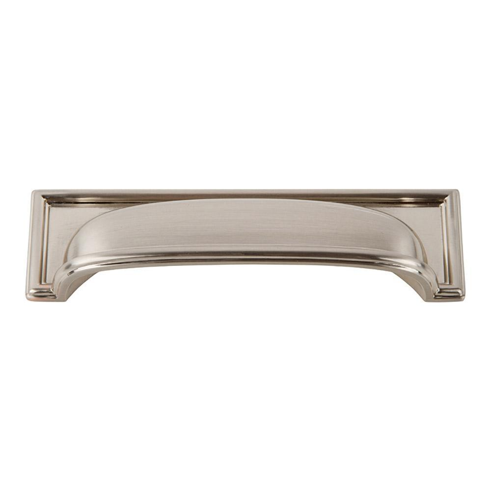 Atlas Homewares Campaign Rope Cup Cabinet Pull Brushed Nickel, 5 in