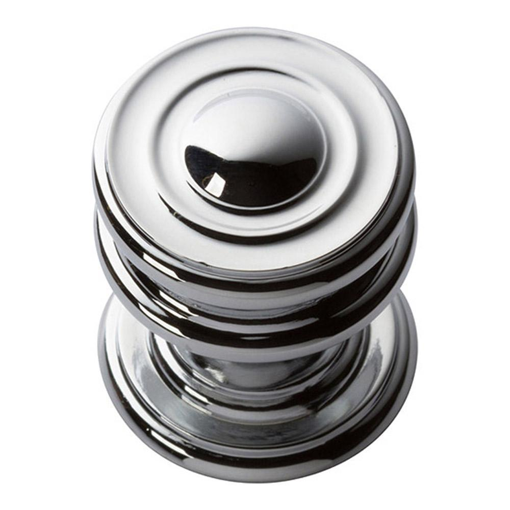 Atlas Homewares Campaign Round Cabinet Knob Brushed Nickel, 1-1/4 in