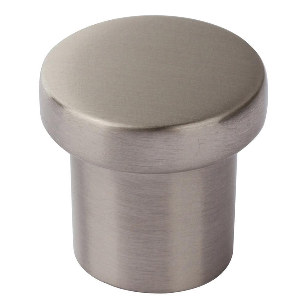 Atlas Homewares Chunky Round Cabinet Knob Brushed Nickel, 1 in