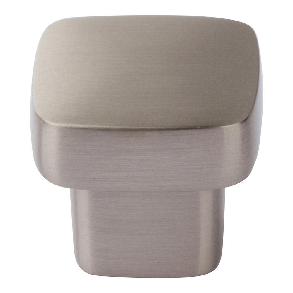Atlas Homewares Chunky Square Cabinet Knob Brushed Nickel, 1 in
