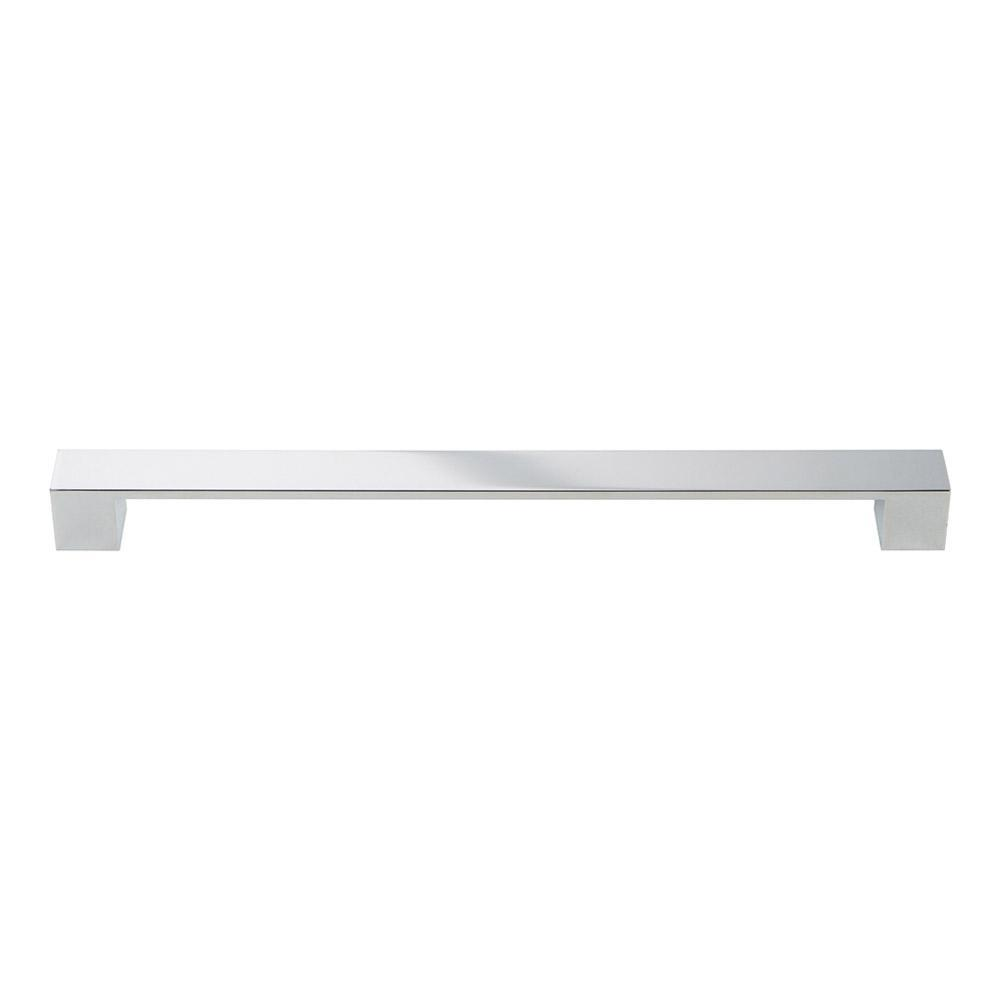 Atlas Homewares Wide Square Cabinet Pull Polished Chrome , 12 11/16 In