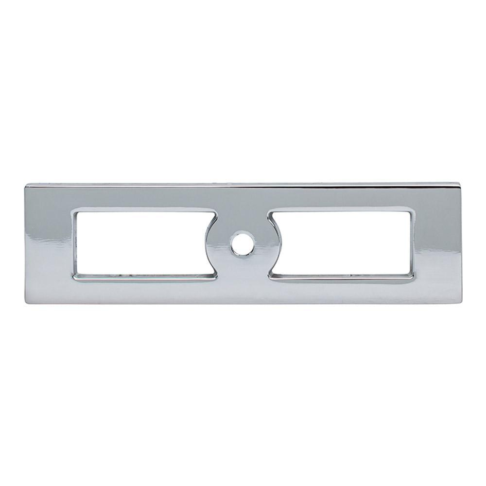 Top Knobs Lynwood Hollin Cabinet Knob Backplate Polished Chrome, 4 9/32 In