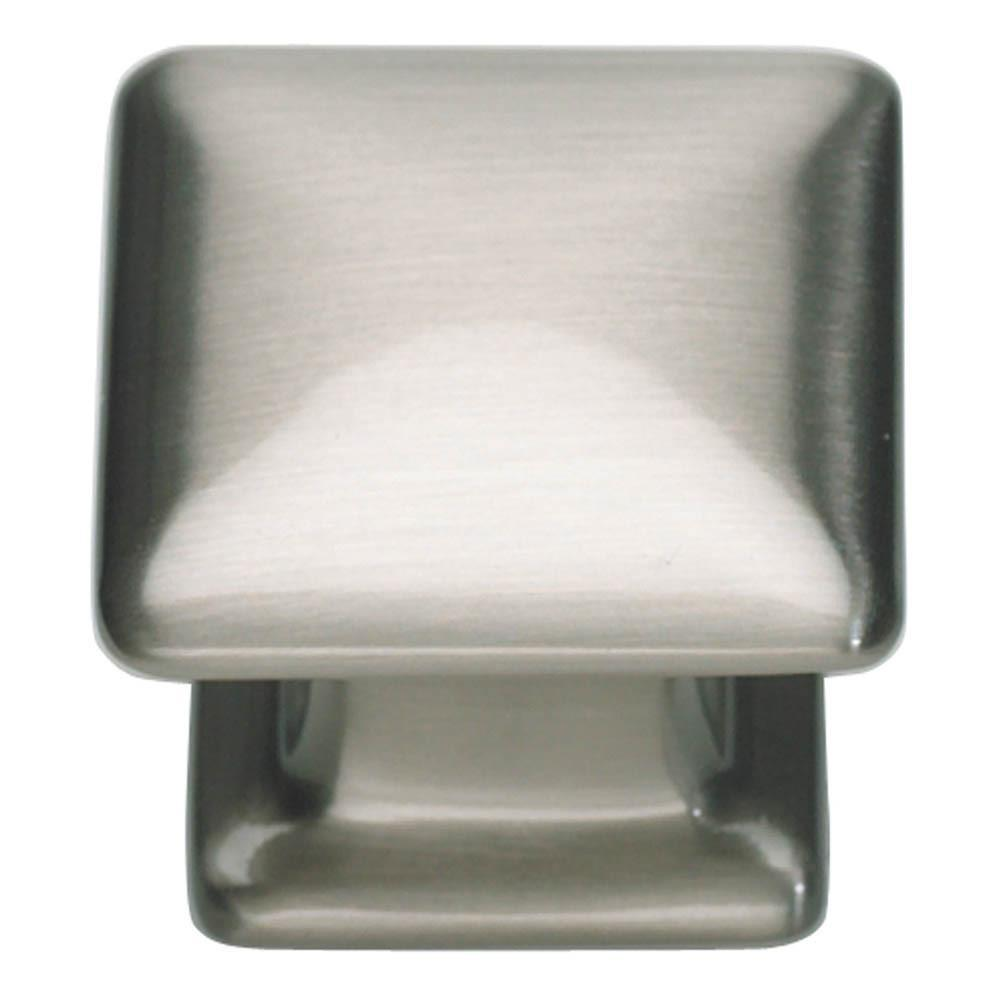 Atlas Homewares Alcott Square Knob Cabinet Knob Brushed Nickel / 1-1/4 in