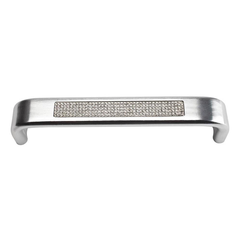 Atlas Homewares Boutique Crystal Pave Arch Pull Cabinet Pull Matte Polished Chrome and Crystal / 5-2/7 in