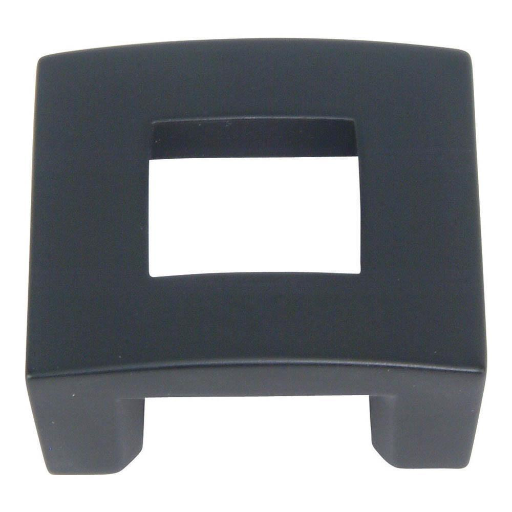 Atlas Homewares Centinel Square Knob Cabinet Knob Black / 1-3/4 in