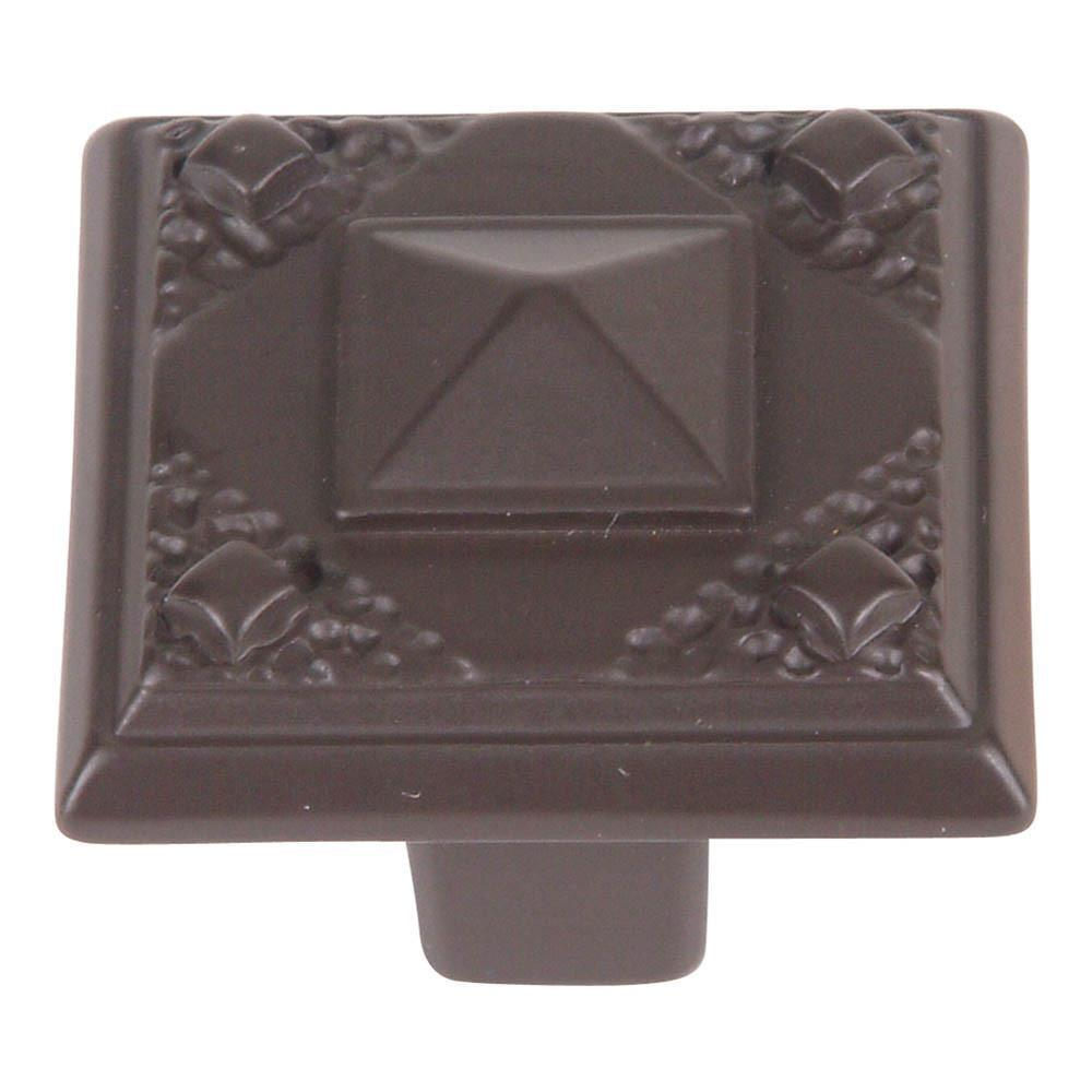 Atlas Homewares Craftsman Rectangular Knob Cabinet Knob Aged Bronze / 1-1/4 in