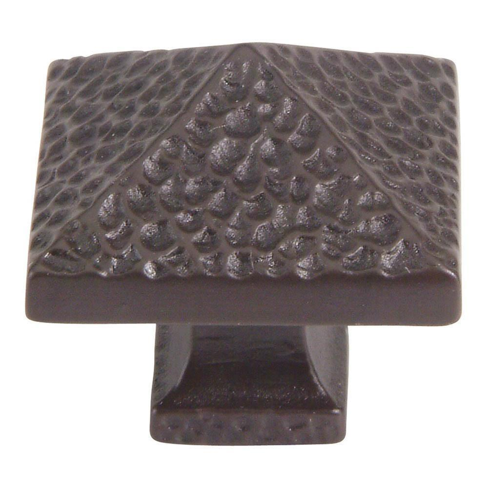 Atlas Homewares Craftsman Square Knob Cabinet Knob Pewter / 1-1/4 in