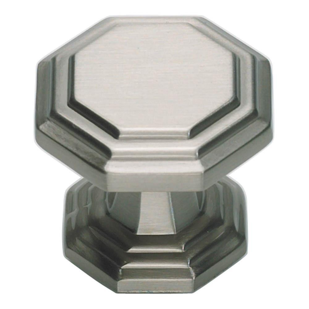 Atlas Homewares Dickinson Octagon Knob Cabinet Knob Brushed Nickel / 1-1/4 in