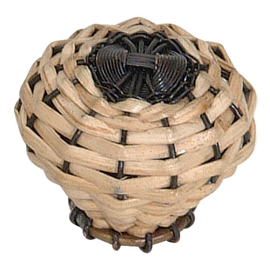 Atlas Homewares Hamptons Round Knob Cabinet Knob Bamboo and Aged Bronze Wire / 1-1/2 in