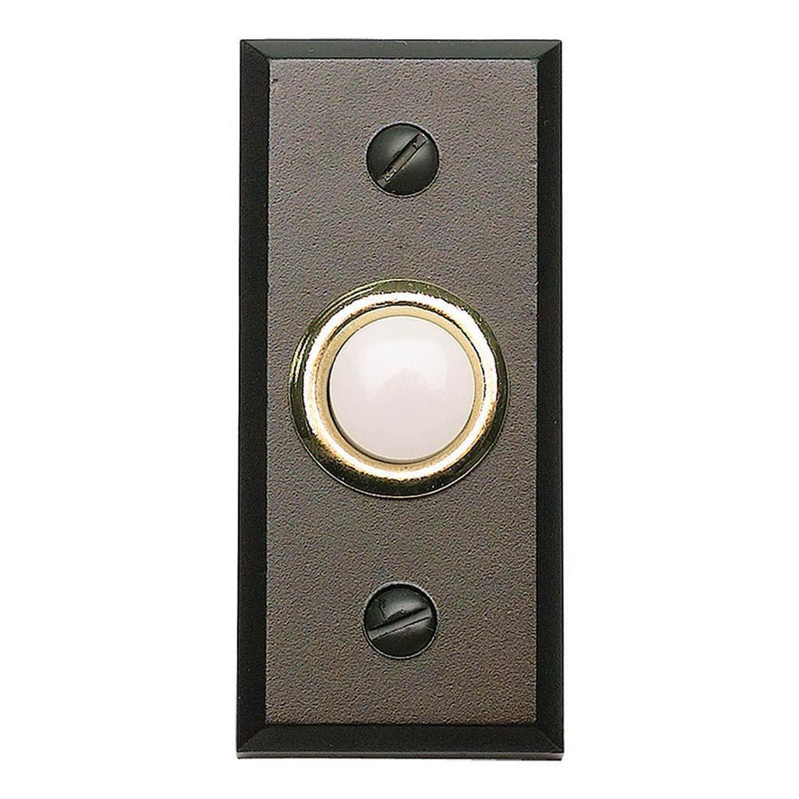 Atlas Homewares Mission Door Bell House Numbers Brushed Nickel / 2-3/4 in