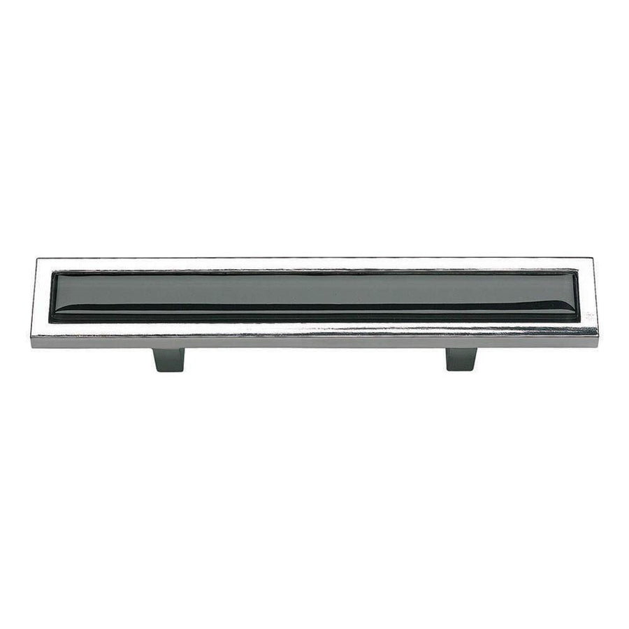 Atlas Homewares Spa Bar Pull Cabinet Pull Black with Brushed Nickel / 5-3/4 in
