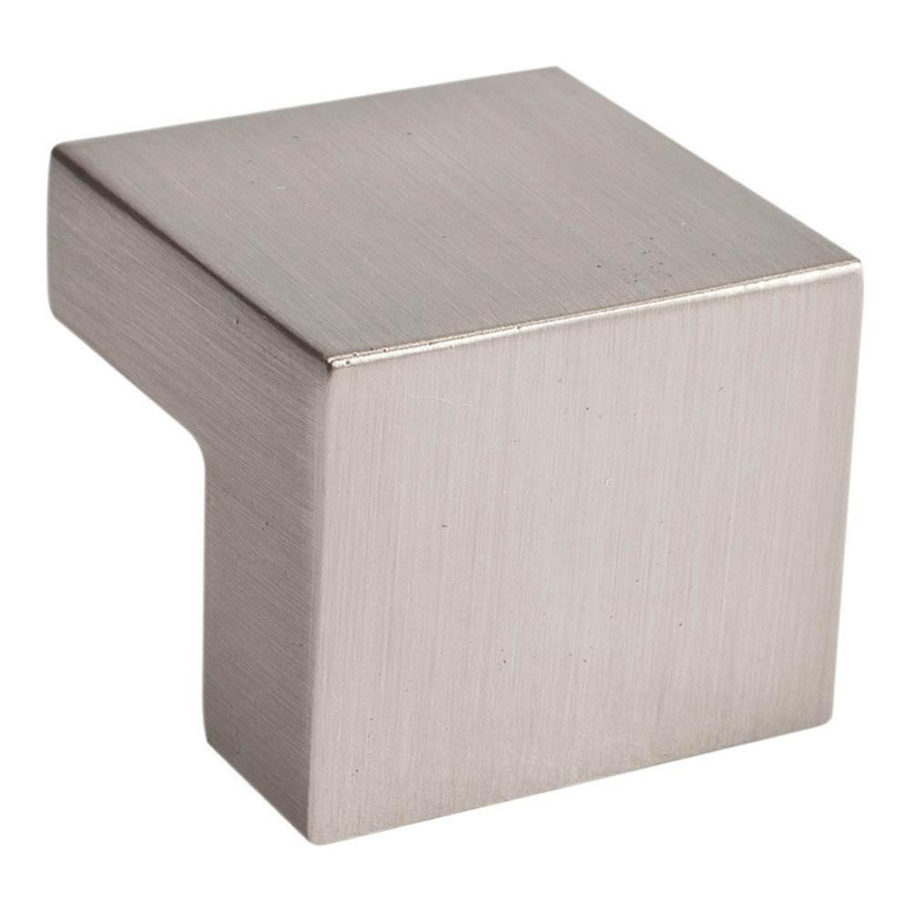 Atlas Homewares Successi Small Square Knob Cabinet Knob Brushed Nickel / 1 in