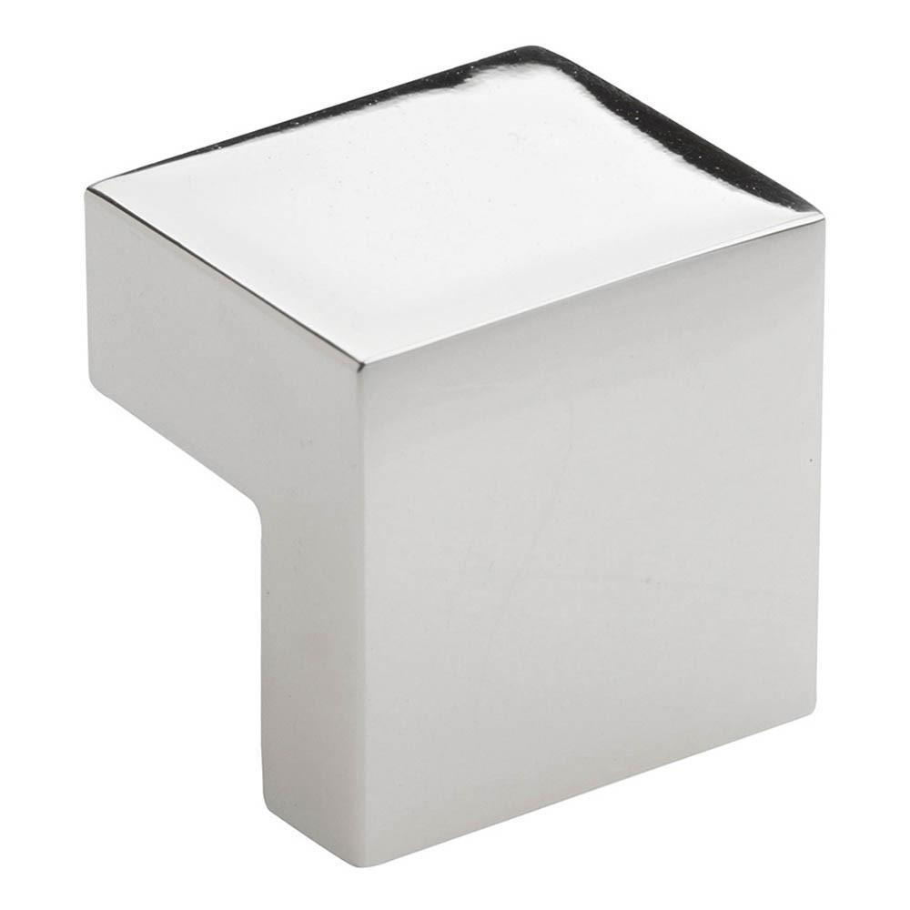 Atlas Homewares Successi Small Square Knob Cabinet Knob Polished Nickel / 1  In