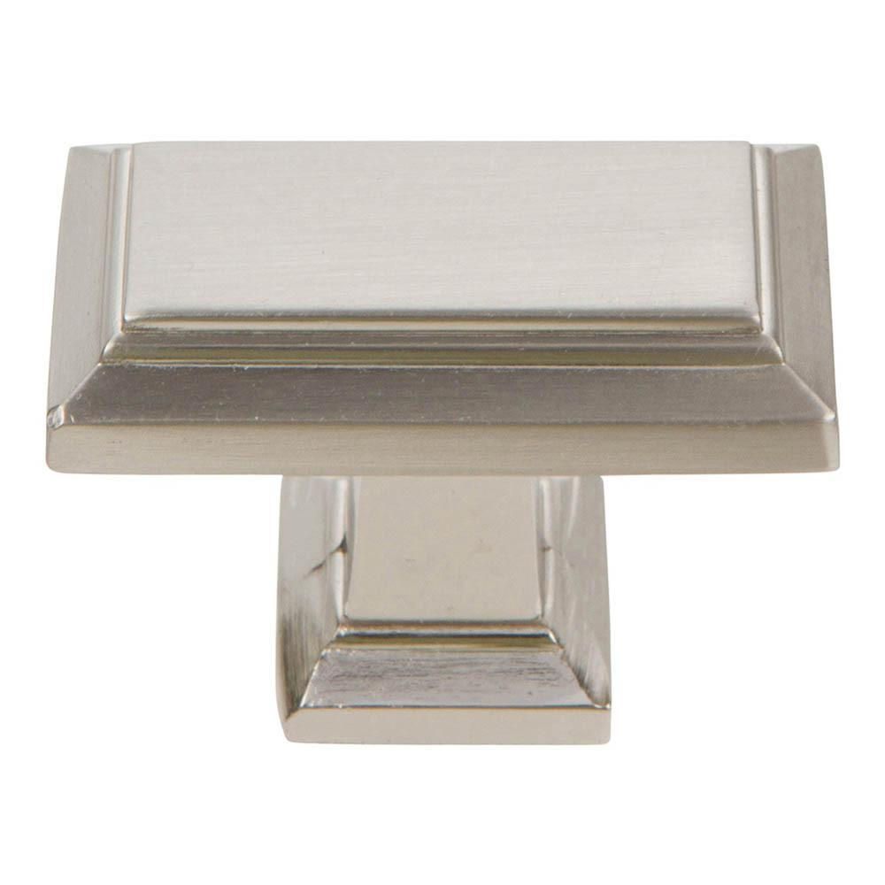 Atlas Homewares Sutton Place Rectangular Knob Cabinet Knob Brushed Nickel / 1-3/7 in