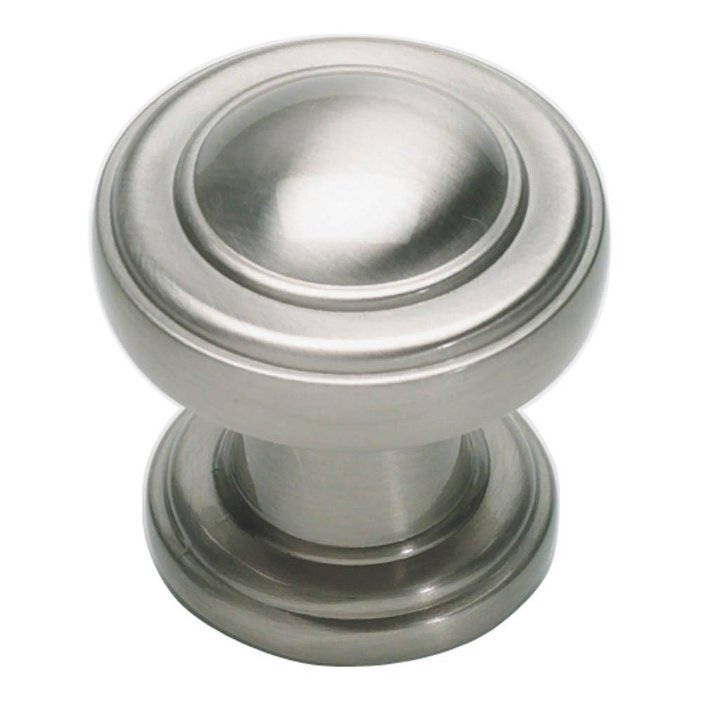 Bronte Round Knob by Atlas Homewares Cabinet Knob Brushed Nickel / 1-1/9 in