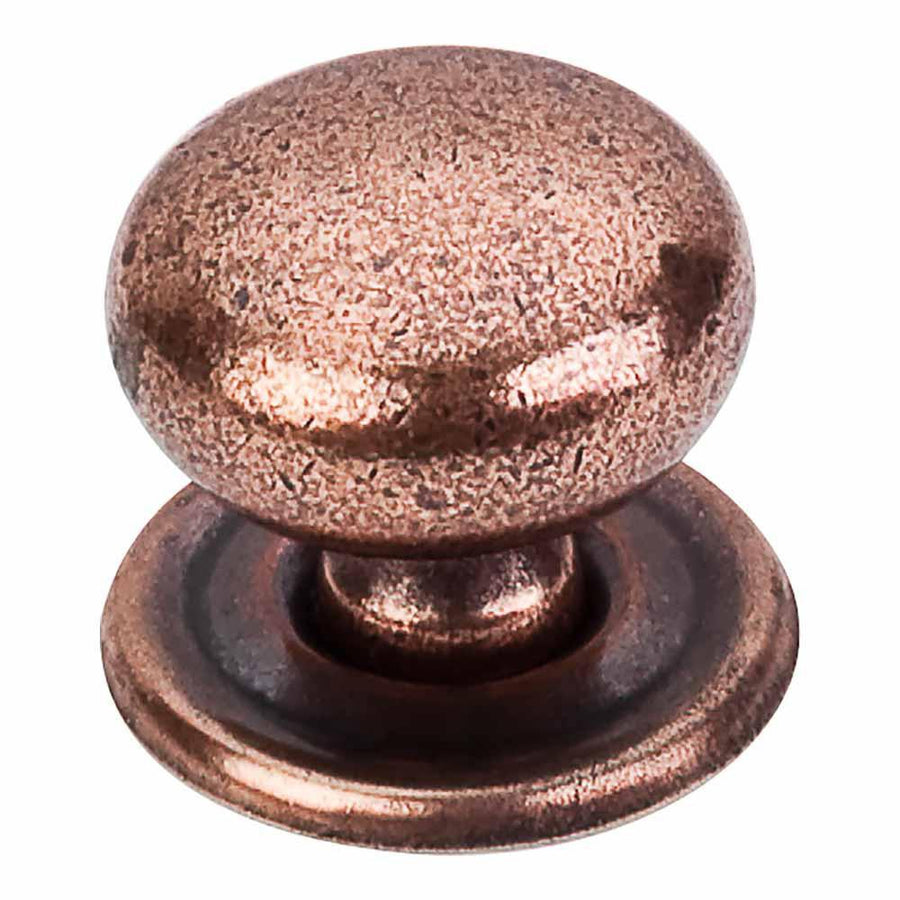 Top Knobs Britannia Victoria Knob with Backplate Cabinet Knob Brushed Satin Nickel / 1-1/4 in