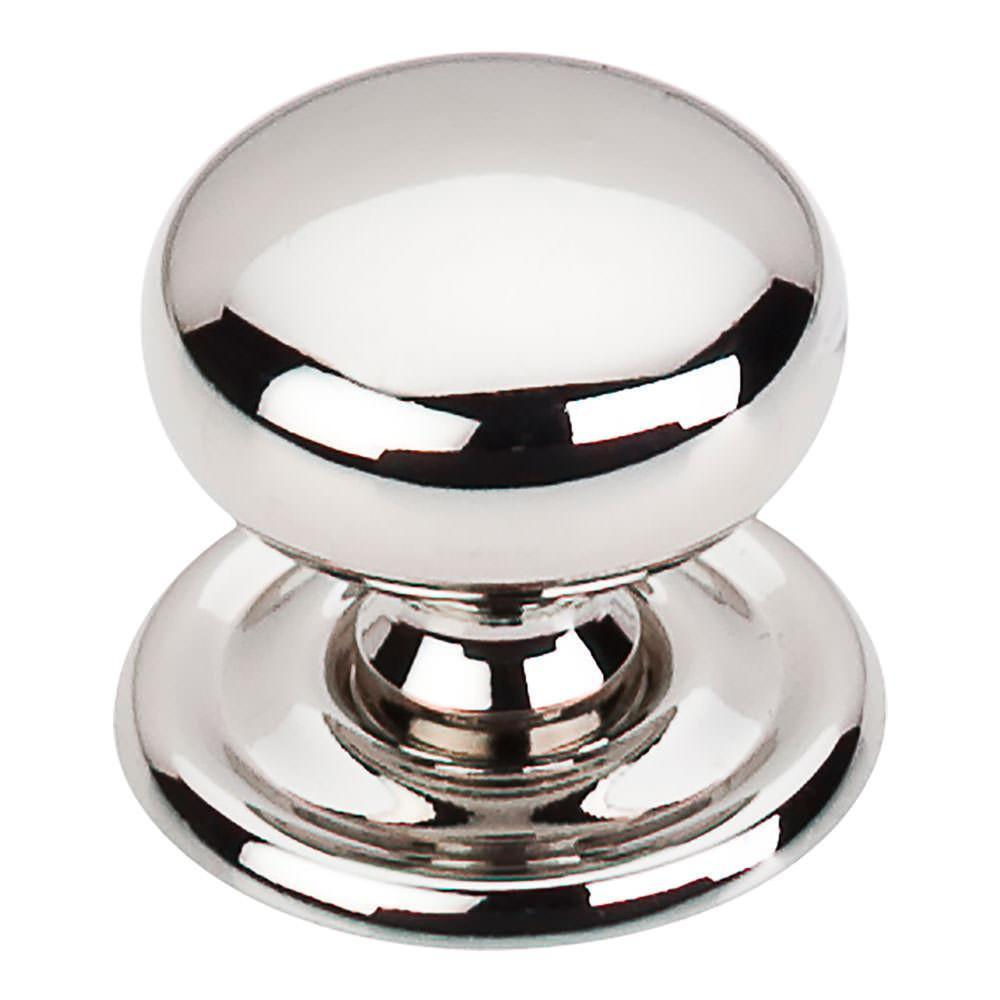 Top Knobs Britannia Victoria Knob With Backplate Cabinet Knob Polished  Nickel / 1 1/