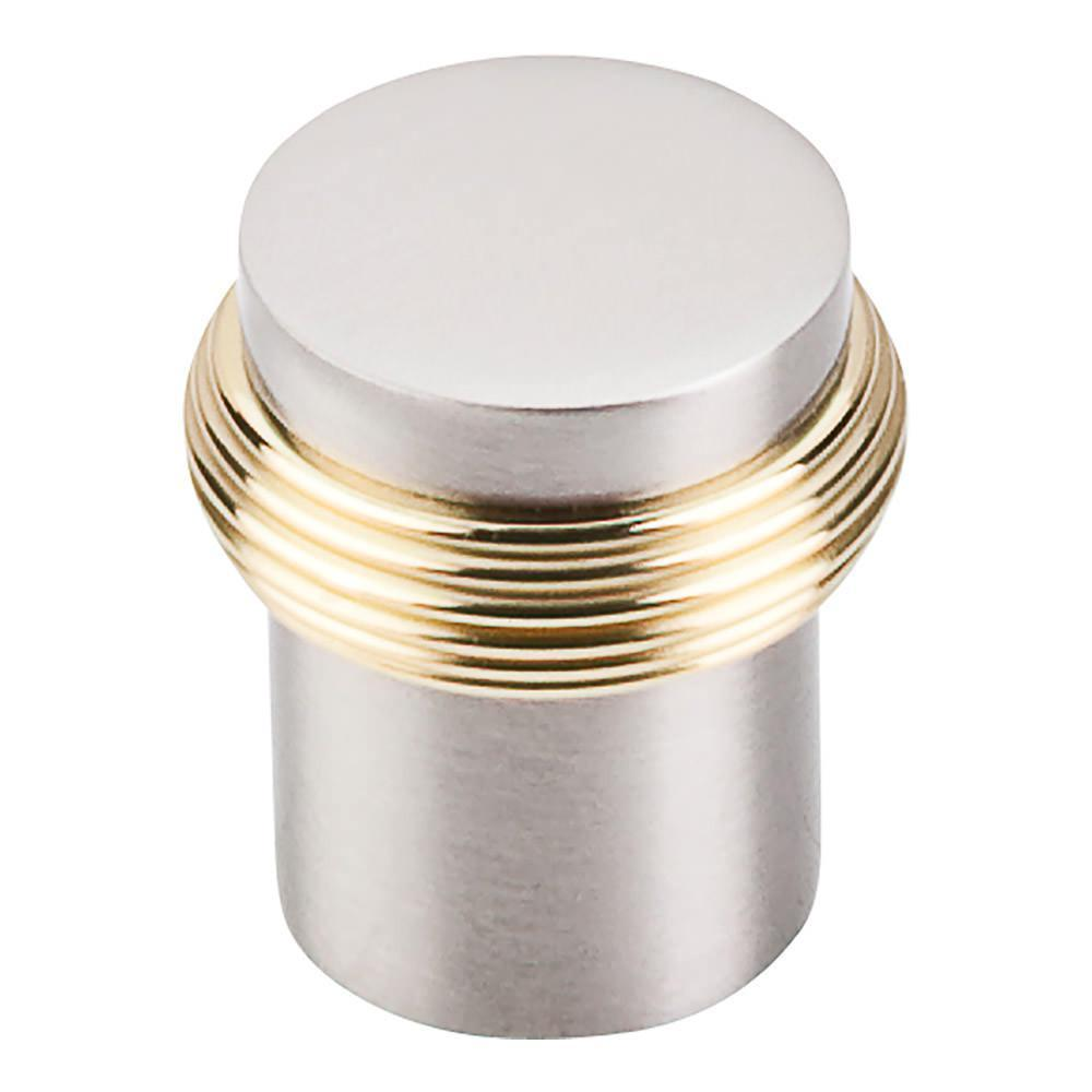 Beau Top Knobs Nouveau Split Finish Knob Cabinet Knob Brushed Satin Nickel And Polished  Brass / 1