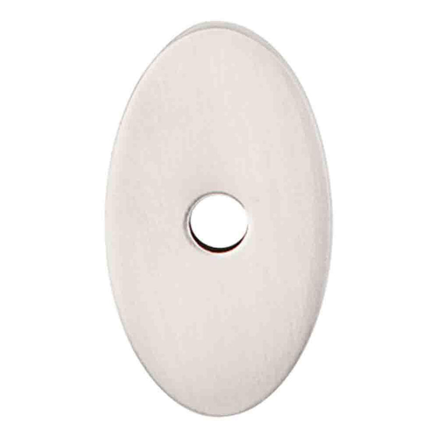 Top Knobs Sanctuary Oval Backplate Cabinet Backplate Brushed Satin Nickel /  1 1/4