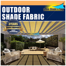 Stone Shade & Taprs Outdoor Shade Cloths 200gsm Top quality Thick fabric UV treated Patio, Gazebo, Lanai, Deck, Gargden shade cloths roll Unfabricated TAN 6X20