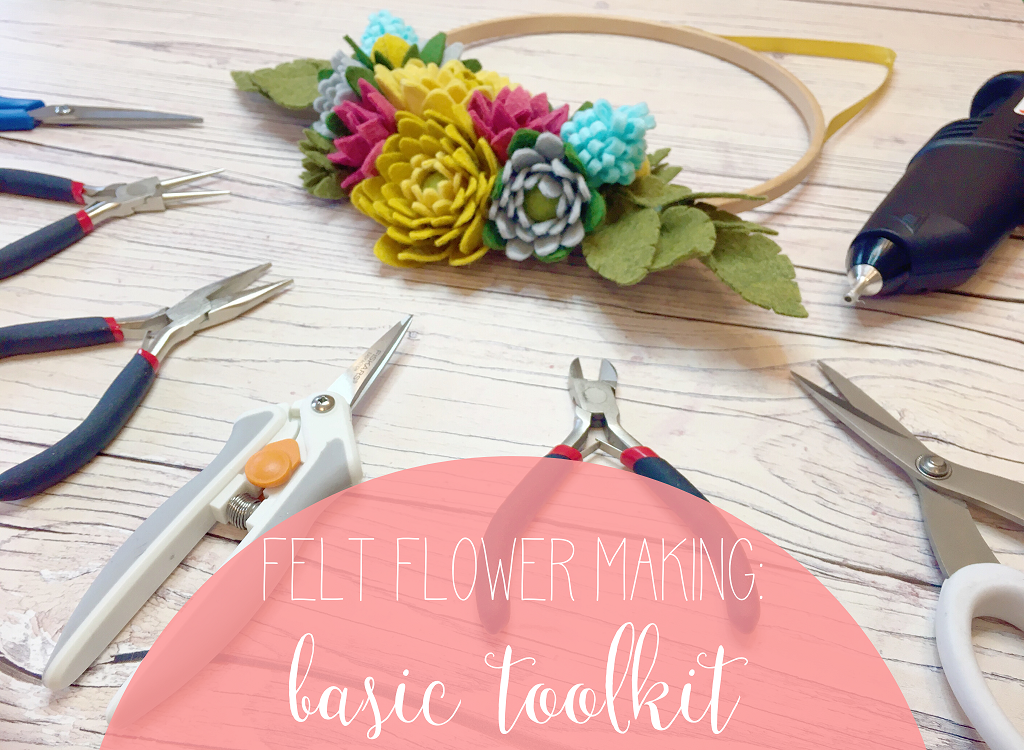 felt flower making basic toolkit
