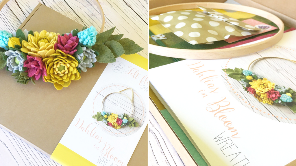 Dahlias in Bloom Wreath craft kit by The Handmade Florist