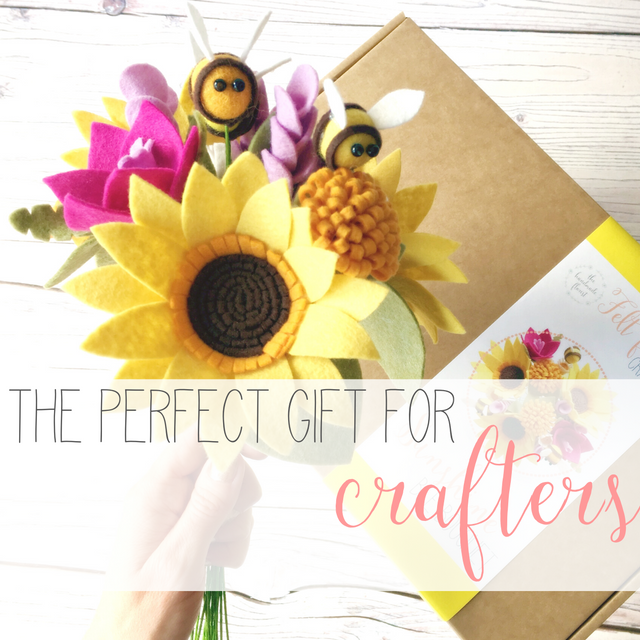 The Handmade Florist felt flower craft kits the perfect gift for crafters
