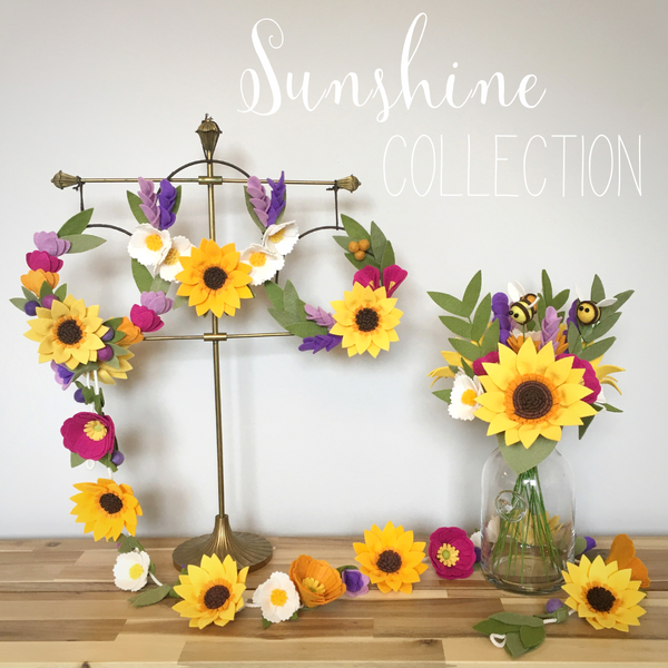 Sunshine Collection felt flowers by The Handmade Florist