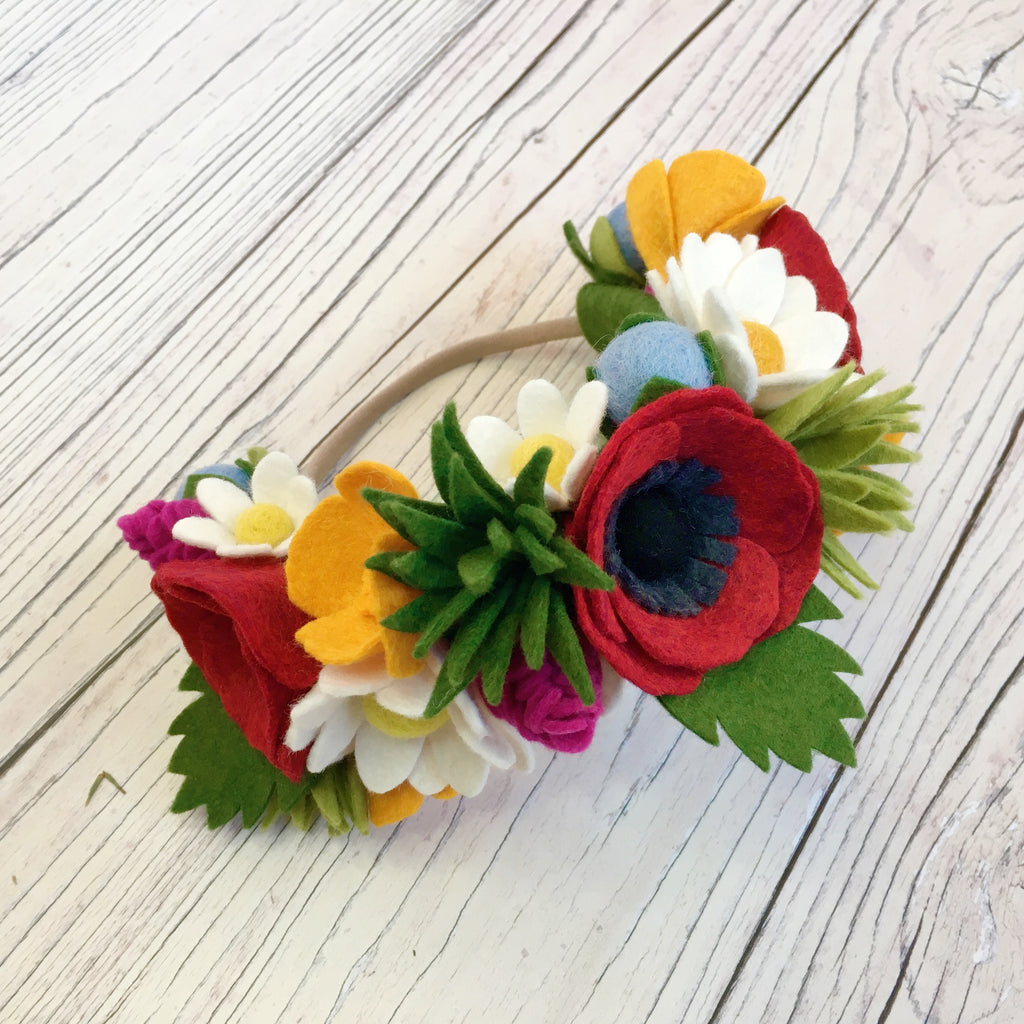 PDF pattern download + FREEZER PAPER TEMPLATES: Wild Meadow Flower Crown