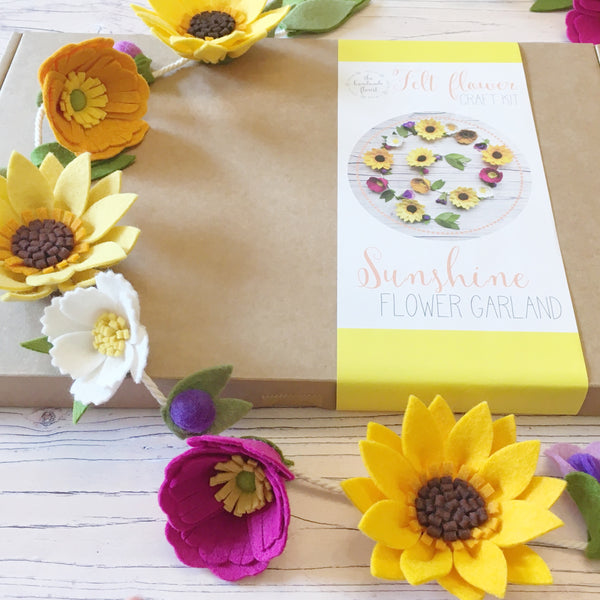 Sunshine Flower Garland craft kit