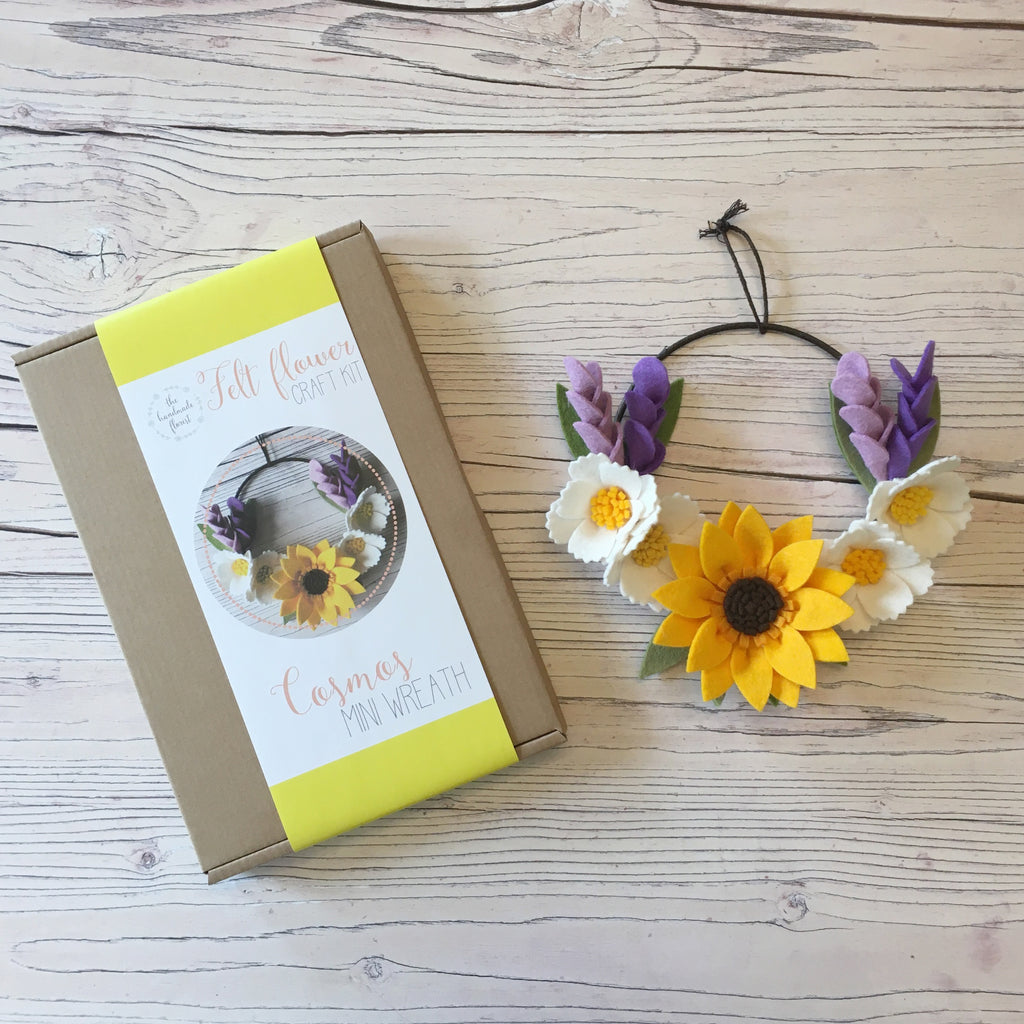 Cosmos Mini Wreath craft kit