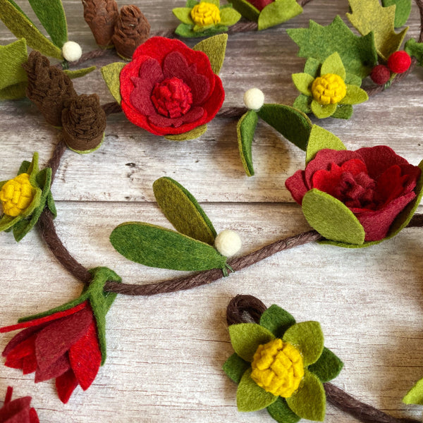 woodland wonders felt flower garland
