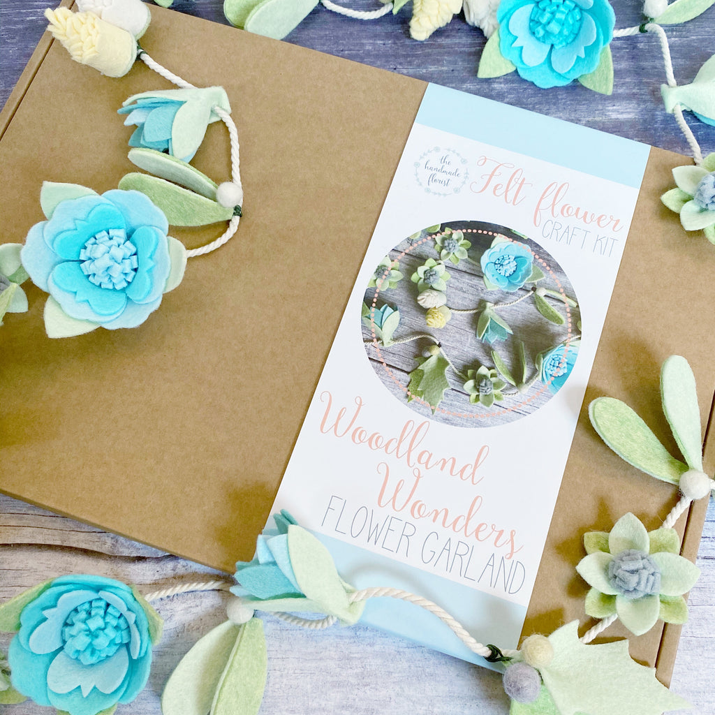 woodland wonders felt flower garland craft kit