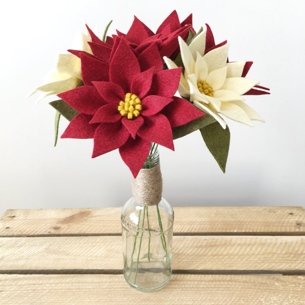 PDF pattern download: Poinsettia Bouquet