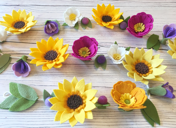 PDF pattern download + FREEZER PAPER TEMPLATES: Sunshine Flower Garland