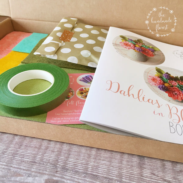 Dahlias in Bloom Bouquet craft kit