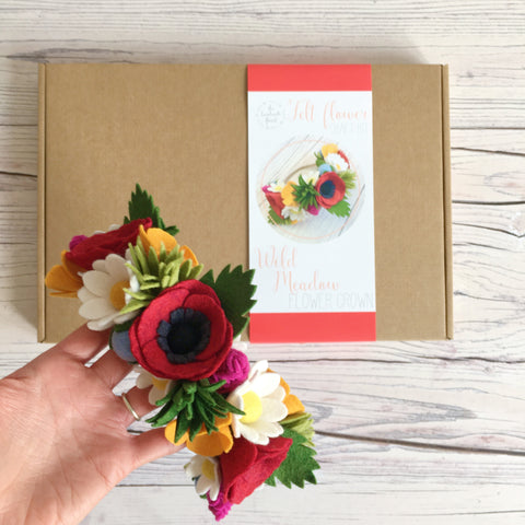 Wild Meadow Flower Crown craft kit