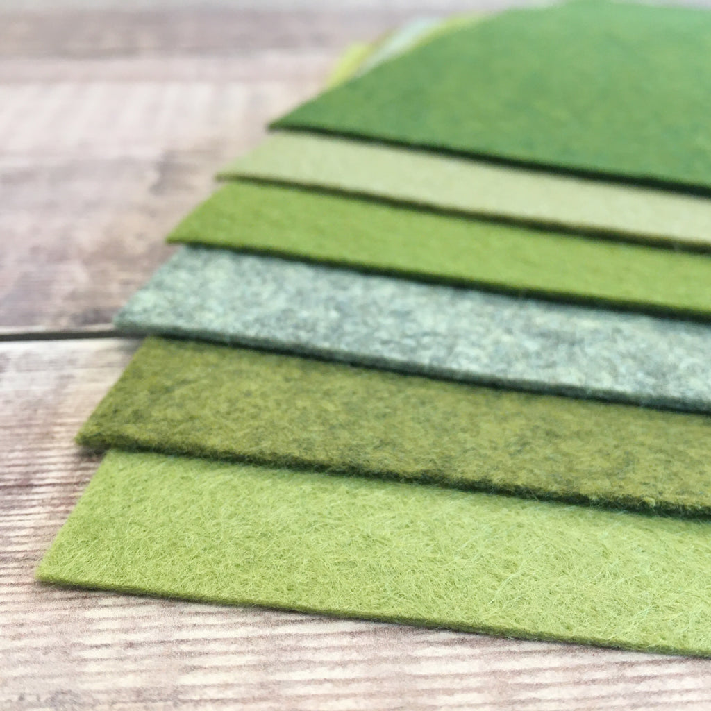 Felt pack: Green mix