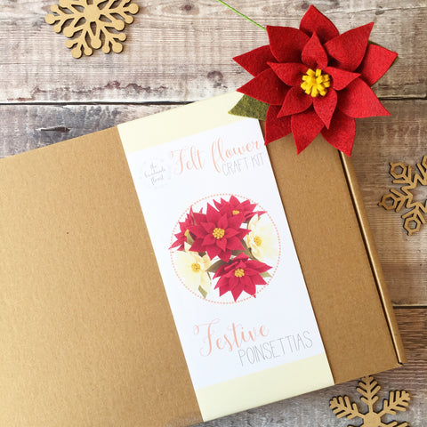 Festive Poinsettias craft kit