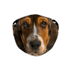Basset Hound Puppy Muzzle Dark Bones Sublimation Face Mask