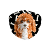 Cavapoo Puppy Dark Bones Sublimation Face Mask