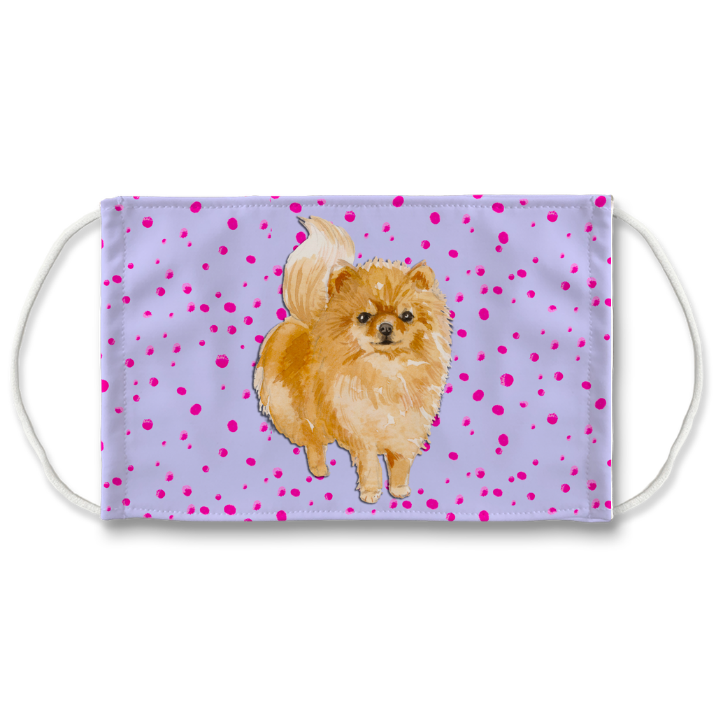 Pomeranian Purple Sublimation Face Mask