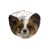 Papillon Puppy Paw Print Sublimation Face Mask + 10 Replacement Filters