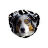 Australian Shepherd Dog Dark Bones Sublimation Face Mask