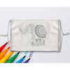 Elephant Mandala Sublimation Coloring Face Mask