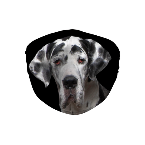 Great Dane Puppy Black Sublimation Face Mask