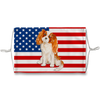 Cavalier King Charles Spanie Dog USA Flag Sublimation Face Mask