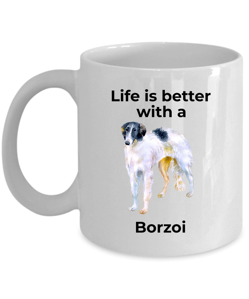 Borzoi Coffee Mug - Life is Better